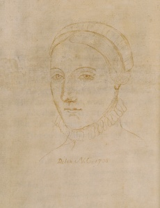 Anne Hathaway (later Anne Shakespeare), as sketched by Nathaniel Curzon